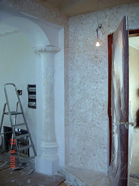 Декоративная штукатурка для стен под камень